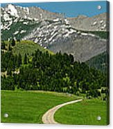 Windy Road To The Crazy Mountains Acrylic Print