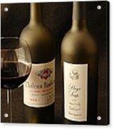 Wine Bottles Acrylic Print by David Campione