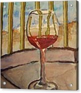 Wine By The Water Acrylic Print