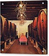 Wine Cellar Acrylic Print by Benjamin Matthijs