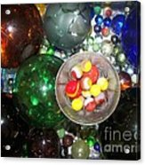Wine Glass And Marbles Acrylic Print
