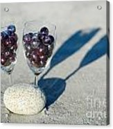 Wine Glass With Grapes Acrylic Print