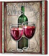 Wine Poetry Acrylic Print