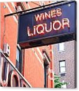 Wines And Spirits Sign Acrylic Print