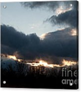 Winter Afternoon Clouds Acrylic Print