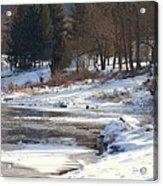 Winter Along The Delaware Acrylic Print