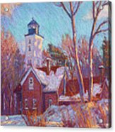 Winter At The Lighthouse Acrylic Print