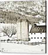 Winter Barn 3 Acrylic Print