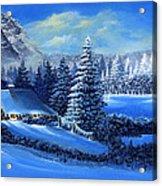 Winter Cabin Acrylic Print