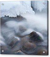 Winter Creek Framed By Ice Acrylic Print