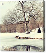 Winter Day In The Park Acrylic Print
