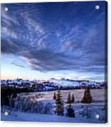 Winter Evening Clouds Acrylic Print