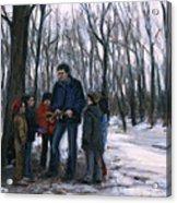 Winter Explorers Acrylic Print