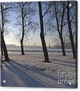 winter forest Peterburg Acrylic Print