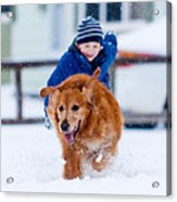 Winter Fun Acrylic Print by Matt Dobson