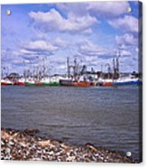 Winter Harbor Acrylic Print
