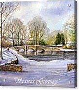 Winter In Ashford Xmas Card Acrylic Print