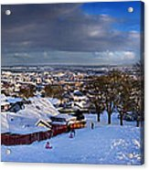 Winter In Inverness Acrylic Print