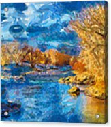 Winter In Salida -- Renoir Acrylic Print