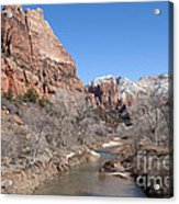 Winter In Zion Acrylic Print