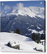 Winter Landscape In The Mountains Acrylic Print