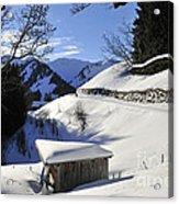 Winter Landscape Acrylic Print by Matthias Hauser