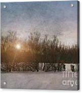 Winter Landscape  Acrylic Print by Sandra Cunningham