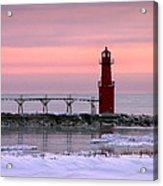 Winter Lighthouse Acrylic Print
