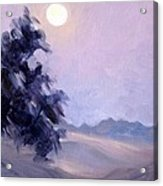Winter Moonrise Acrylic Print
