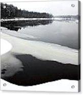 Winter On The Merrimack River Acrylic Print
