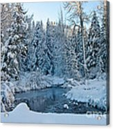 Winter On The Truckee River Acrylic Print