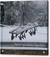 Winter Pegs Acrylic Print