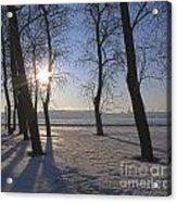 winter Peterburg Russia  Acrylic Print
