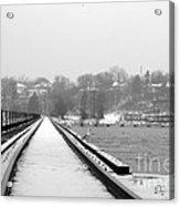 Winter Rails Acrylic Print