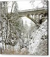 Winter, Shepperds Dell, Columbia River Acrylic Print