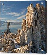 Winter Shoreline Mono Lake Acrylic Print
