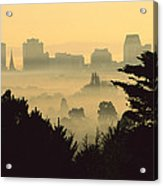 Winter Smog Over The City Acrylic Print