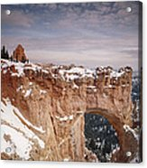 Winter Snow Covers The Eroded Natural Acrylic Print by Gordon Wiltsie