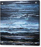 Winter Storms And Moonlight No1 Acrylic Print by Mike   Bell