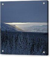 Winter Sun Alaska Acrylic Print by John Wolf
