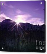 Winter Sun Winking Over The Mountains Acrylic Print