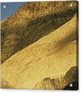 Winter Sunlight On Desert Mountains Acrylic Print