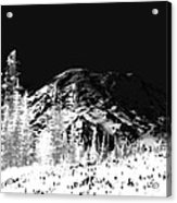 Winter Sunrise On Mount Rainier Acrylic Print