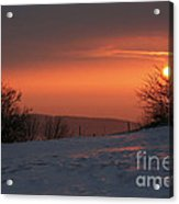 Winter Sunset Acrylic Print by Michal Boubin