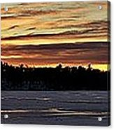 Winter Sunset V Acrylic Print
