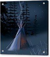 Winter Teepee Acrylic Print