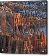 Winter View Of Bryce Canyon National Acrylic Print
