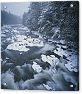 Winter View Of The Ausable River Acrylic Print