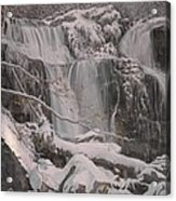Winter Waterfalls Acrylic Print