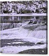Winter Waterfalls Acrylic Print